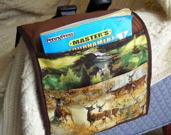 Autumn Deer Armchair Caddy, Remote Control Organizer