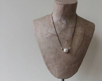 nugget necklace white