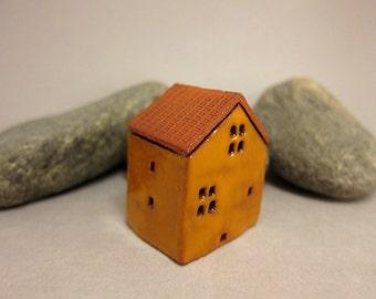 YELLOW...Collectible Terracotta House from elukka
