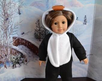 18 inch Doll Clothes - Penguin Sleeper or Costume - MADE TO ORDER - fits American Girl