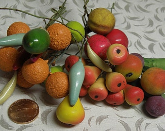 33 fruit and vegetables on wires, millinery supply, made in e.germany occupied ussr