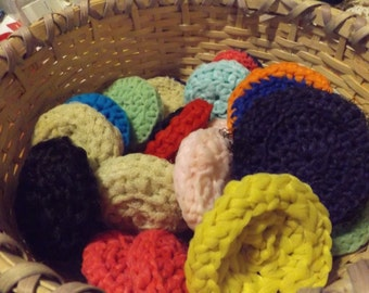 crcoheted dish scrubbies