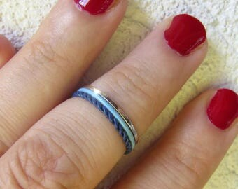 3 Plain Knuckle Rings / Tris of Midis - Handmade. Tarnish Resistant. Hypoallergenic.