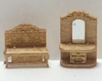 New - 144th Inch Scale Furniture Kits Victorian Style Hall