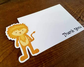 Oz Friends Party - Set of 8 Cowardly Lion Thank You Cards by The Birthday House