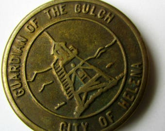 Antique Token Helena Guardian of the Gulch City of Helena 25 cent Last Chance Gulch parking token Montana Token Vintage Token