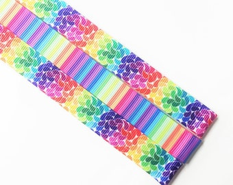 Pattern Magnet - Chart Keeper Magnetic Bookmark - Knitting Crochet Supplies Tools - Set of 3 - Llamicorn Rainbow