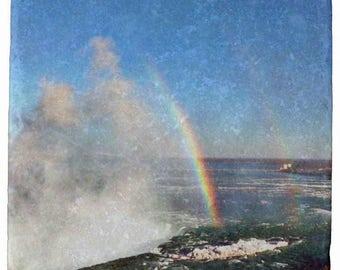 Niagara Falls, Double Rainbow, From My Original Photo Stone Coasters