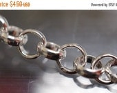 WINTER SALE Soldered Silver Plated Rolo Cable Chains - 3.5mm Round Thick Rings - 6 feet