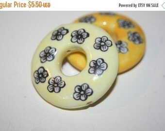 WINTER SALE Full Drill Lampwork Rings - ONLY Two Pieces Available