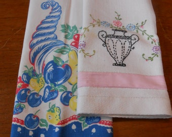 Vintage linen towels