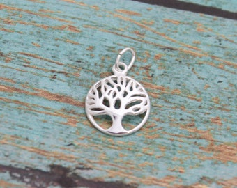 Sterling Silver Tree of Life Charm, Family Tree Charm, Sterling Silver Tree Charm, I Piece