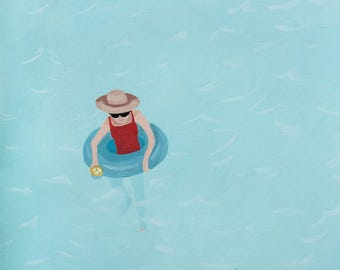 Floatin' - Original Gouache Painting / Illustration