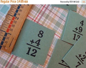 ON SALE 1940s Awesome Antique Hardboard Flash Cards