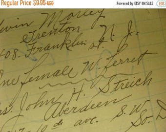 ON SALE Antique 1900s  Ledgers 105 years old
