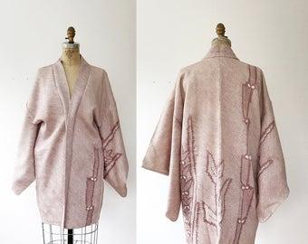 vintage kimono haori / vintage kimono robe / Cactus Shibori kimono