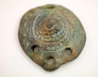 Shield of Wisdom... Ceramic Artisan Bead