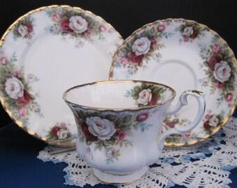 "ROYAL ALBERT Bone China Teacup, Saucer and Plate ""Celebration """