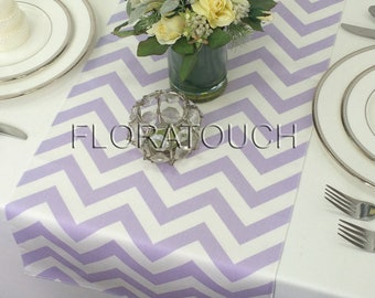 Lavender Chevron Table Runner Lavender and White Zigzag Wedding Table Runner