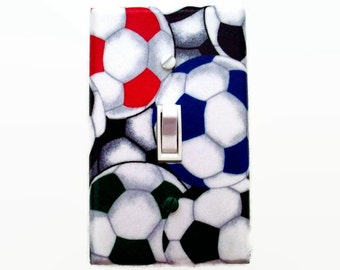 Soccer Switch Plate - Soccer Light Switch Cover - Sports Decor - Soccer Boys Bedroom - Boys Room - Kids Sports Decor - Sports Switch Plate