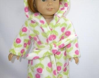 Flowered robe for American girl doll