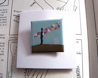Angel of the North, Badge, Brooch, Greeting Card, Gateshead, Angel, Antony Gormley