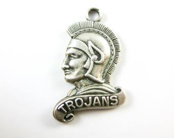 Vintage Jonsten Sterling Silver Trojans Soldier Charm