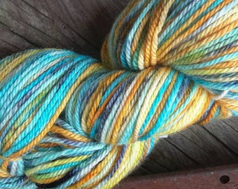 Fish Pond handdyed aran BFL yarn
