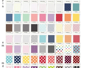 Stokke & Crib fitted sheets or Skirt // Dots collection // Choose your fabric // 72 colors