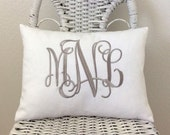 Personalized Pillow Cover WITH INSERT Baby Gift Shower Gift Wedding GIft Choose Your Size and Style