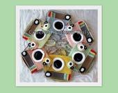 Camera Purse & Miniature Camera Purse Crochet Pattern, Vintage Camera Purse Crochet Pattern, Crochet Pattern, Downloadable PDF,