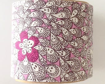 Liberty of london - fabric tape - one roll - 5cm x one metre - grayson perry - pink