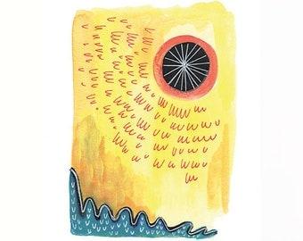 Summer Sun Giclee Print 8.5x11in