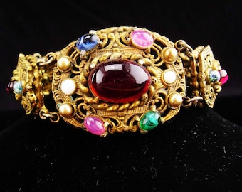 Antique bracelet / Austro Hungarian jewelry / OPAL jeweled bracelet / czech jewelry / vintage estate jewelry