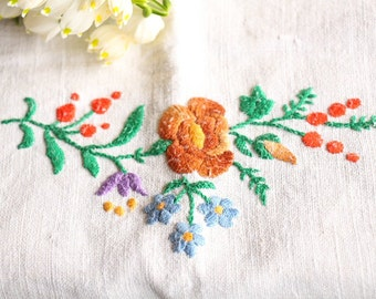 D 130: handloomed linen antique charming TOWEL napkin, LAUNDERED,리넨, decoration; tablerunner