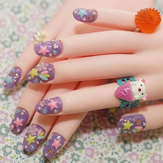 26 Impossible Japanese Nail Art Designs: Japanese Nail Art Aya's Kawaii Mono Ya San By Aya1gou On Etsy