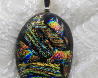 Countryside Fused Dichroic Glass Pendant
