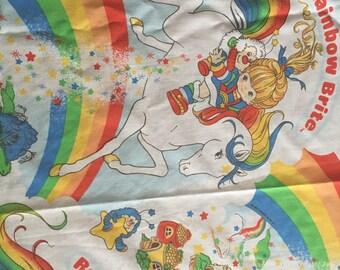 Vintage Rainbow Brite Bedsheet- part