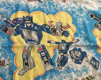 Vintage Transformers Bedsheet piece
