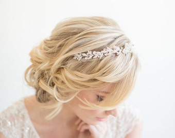 Wedding Headpiece,  Bridal Headpiece, Bridal Hairpiece, Silver Crystal Headband, Bridal Hair Comb, Wedding Tiara