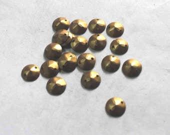 100Matte Dull Golden Color/ Round sequins/ Metallic/KBRS741