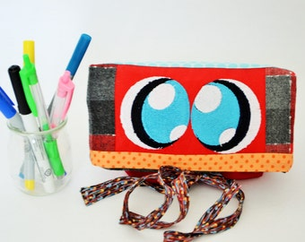 Pencil case, toilet bag,foldover patchwork, pouch,bag,makeup,bag eye,bag children,giFoldover, foldover clutch,fold over bag,foldover