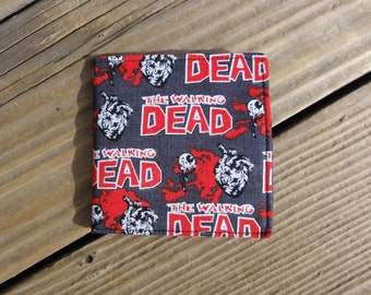 Gray, Black, and Red Walking Dead Zombie Wallet