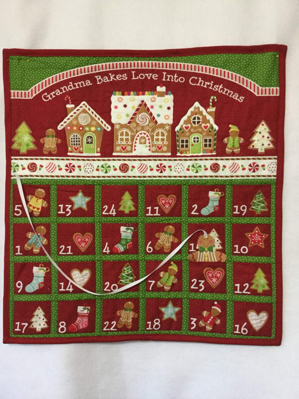 Advent Calendar Quilted Christmas Countdown Calendar