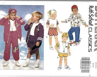 Butterick 6092 sewing pattern child size 2, 3, 4 jacket,top, pants, shorts. hat. new uncut