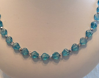 Aqua Seashell Necklace