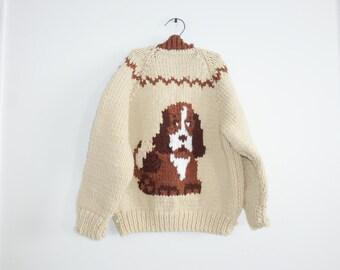Vintage Dog Knit Cardigan