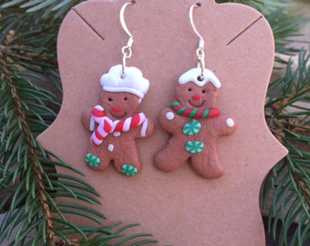 Gingerbread Man earrings Christmas cookie earrings ugly sweater party favors Holiday Jewelry Christmas charm earring