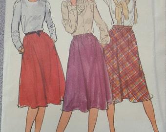 Easy Flare Bias Skirt 20 Butterick 3496