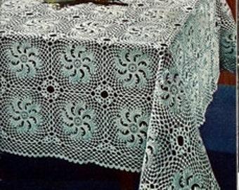 Scroll Tablecoth Crochet Pattern 723170